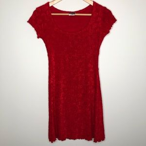 Frederick's of Hollywood Red Heart Baby Doll Dress